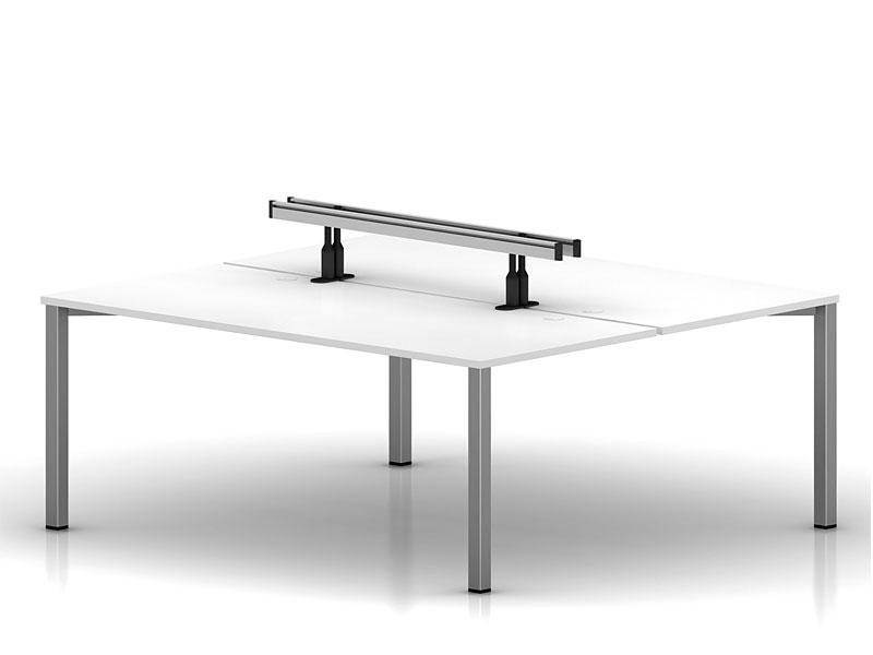 Двухместный бенч-стол Interplay на металлической раме